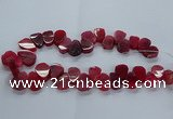 CTD2603 Top drilled 13*18mm - 23*33mm freeform agate beads