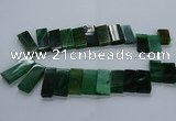CTD2612 Top drilled 14*27mm - 16*42mm rectangle agate beads