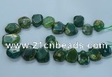 CTD2644 Top drilled 20*25mm - 30*40mm faceted freeform agate beads