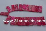 CTD2660 Top drilled 18*45mm - 20*48mm rectangle sea sediment jasper beads