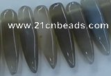 CTD2679 Top drilled 8*25mm - 10*50mm bullet agate beads wholesale