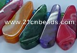 CTD2705 15.5 inches 10*25mm - 18*50mm freeform agate beads
