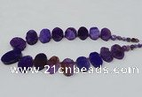 CTD2782 Top drilled 15*25mm - 25*40mm oval agate gemstone beads