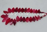 CTD2791 Top drilled 15*30mm - 25*45mm marquise agate gemstone beads