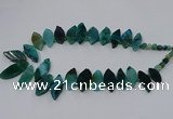 CTD2793 Top drilled 15*30mm - 25*45mm marquise agate gemstone beads