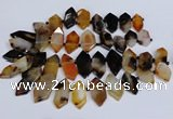 CTD2871 Top drilled 12*25mm - 18*45mm sticks agate gemstone beads