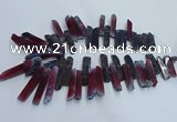 CTD2910 Top drilled 8*35mm - 10*65mm sticks agate beads