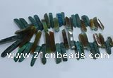 CTD2912 Top drilled 8*35mm - 10*65mm sticks agate beads