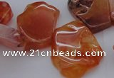 CTD307 Top drilled 15*20mm - 20*25mm freeform red agate beads