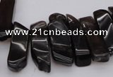 CTD350 Top drilled 10*28mm - 10*50mm wand smoky quartz beads