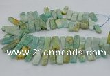 CTD3517 Top drilled 10*20mm - 12*40mm sticks amazonite beads