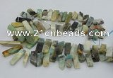 CTD3518 Top drilled 10*20mm - 12*40mm sticks amazonite beads