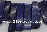 CTD352 Top drilled 10*28mm - 10*50mm wand lapis lazuli beads