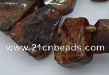 CTD3596 Top drilled 15*20mm - 25*30mm freeform orange garnet beads