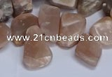 CTD3607 Top drilled 10*14mm - 13*18mm nuggets moonstone beads