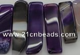 CTD372 Top drilled 10*20mm - 12*55mm wand purple agate beads