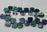 CTD378 Top drilled 18*25mm - 22*30mm freeform chrysocolla beads