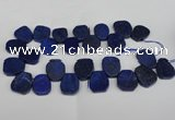 CTD380 Top drilled 18*25mm - 22*30mm freeform lapis lzuli beads