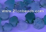 CTD3874 Top drilled 8*10mm - 12*14mm freeform Australia chrysoprase beads