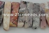 CTD395 Top drilled 8*18mm - 10*50mm wand pink opal gemstone beads