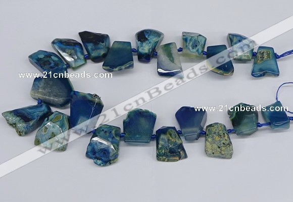 CTD4014 Top drilled 18*25mm - 25*35mm freeform agate beads