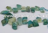 CTD4015 Top drilled 18*25mm - 25*35mm freeform agate beads