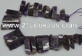 CTD406 Top drilled 10*25mm - 15*50mm sticks amethyst beads