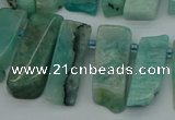CTD445 Top drilled 8*20mm - 10*35mm sticks amazonite beads