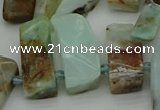 CTD459 15.5 inches 10*20mm - 12*35mm sticks blue opal beads