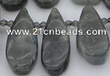 CTD495 Top drilled 10*22mm - 15*45mm freeform labradorite beads