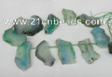 CTD516 Top drilled 20*35mm - 35*48mm freeform agate beads