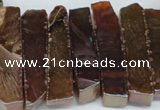 CTD534 Top drilled 10*30mm - 10*65mm wand plated agate beads
