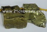 CTD578 Top drilled 20*30mm - 30*50mm freeform plated agate beads