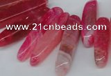 CTD585 Top drilled 6*20mm - 6*45mm wand agate gemstone beads