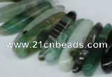 CTD588 Top drilled 6*20mm - 6*45mm wand agate gemstone beads