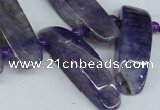 CTD596 Top drilled 10*30mm - 12*45mm wand agate gemstone beads