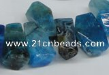 CTD606 Top drilled 10*18mm - 12*28mm nuggets agate gemstone beads