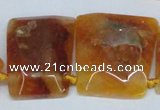 CTD662 Top drilled 25*30mm - 30*40mm freeform agate beads