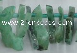 CTD673 Top drilled 10*25mm - 12*45mm wand agate gemstone beads