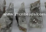 CTD683 Top drilled 12*20mm - 15*45mm freeform agate gemstone beads