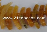 CTD710 Top drilled 12*25mm - 15*40mm wand agate gemstone beads