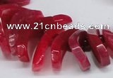 CTD711 Top drilled 12*25mm - 15*40mm wand agate gemstone beads