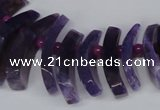 CTD712 Top drilled 12*25mm - 15*40mm wand agate gemstone beads