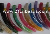 CTD716 Top drilled 10*30mm - 12*50mm wand agate gemstone beads