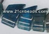 CTD736 Top drilled 15*20mm - 15*40mm wand agate gemstone beads