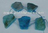 CTD764 Top drilled 25*30mm - 30*35mm freeform agate beads