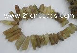 CTD929 Top drilled 13*18mm - 15*40mm wand lemon quartz beads
