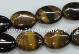 CTE103 15.5 inches 13*18mm oval yellow tiger eye beads wholesale