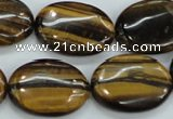 CTE104 15.5 inches 18*25mm oval yellow tiger eye beads wholesale