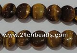 CTE1091 15.5 inches 12mm flat round yellow tiger eye beads